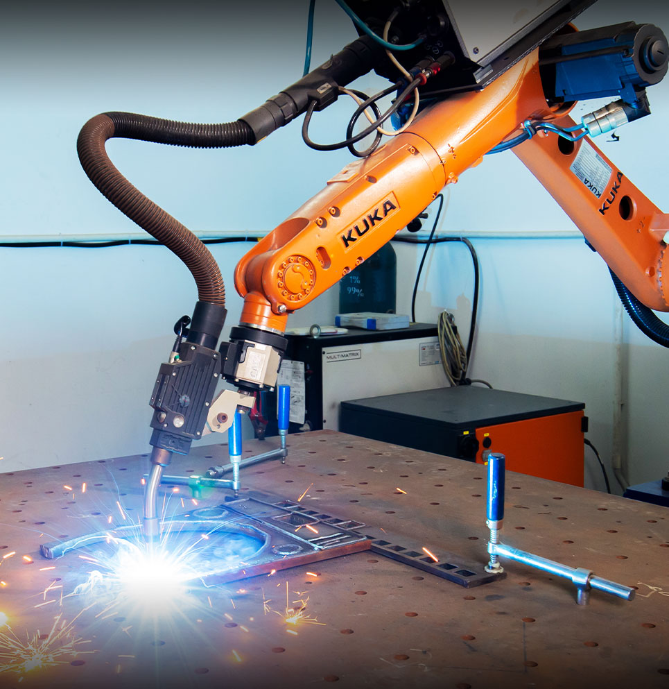 View Precision Robotic Welding services for metal fabrication and metal parts